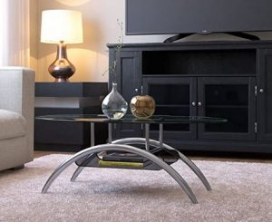 Ryan Rove Cleveland Oval Glass Coffee Table